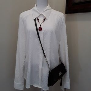 Fred David white stretch career shirt size XL NWT